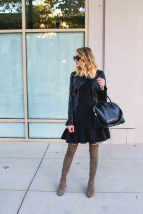 winter knee boots