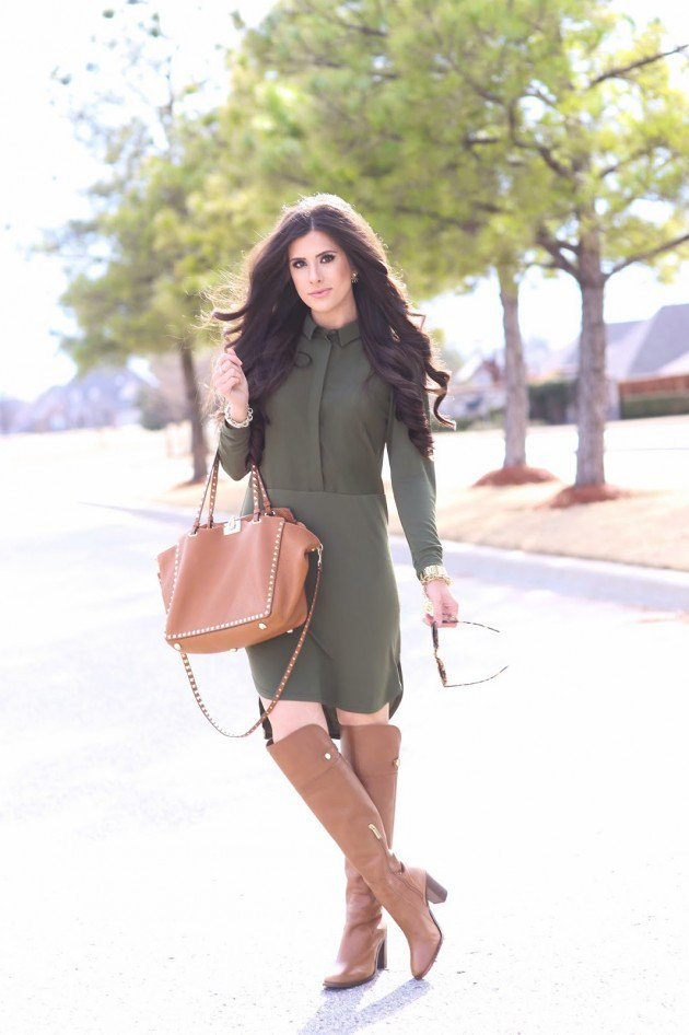Over the knee boots for winter