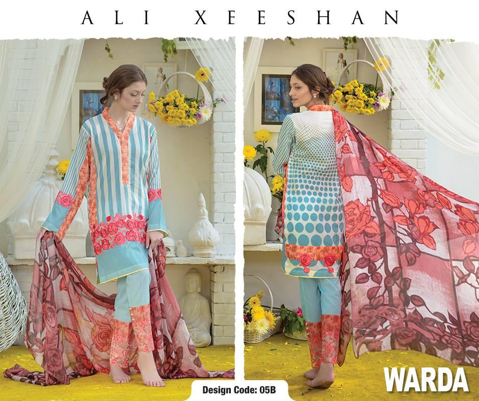Ali Xeeshan Summer Lawn Warda Designs Collection