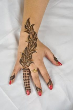 Hand Finger Mehndi Designs For Autumn Events 2016