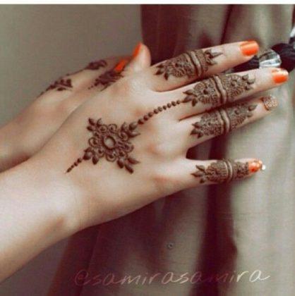 Hand Finger Mehndi Designs