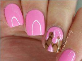 Ice Cream nail Art Designs