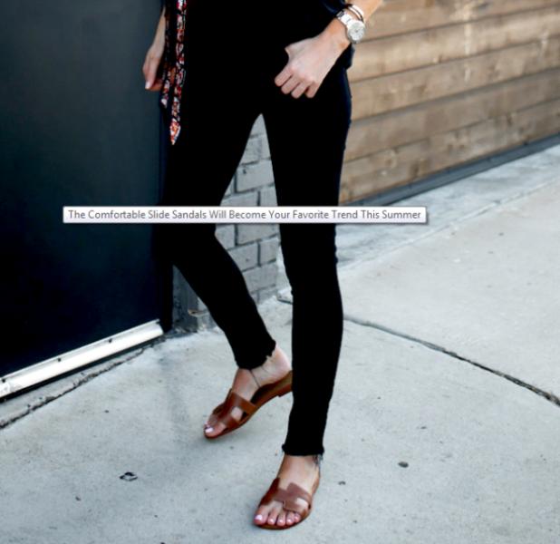 Slide Sandals Summer Footwear Trend