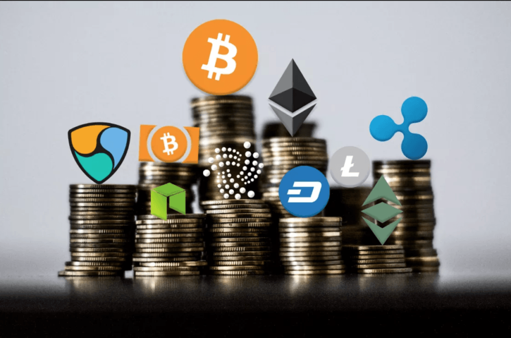 Bitcoin, Ether, Ripple