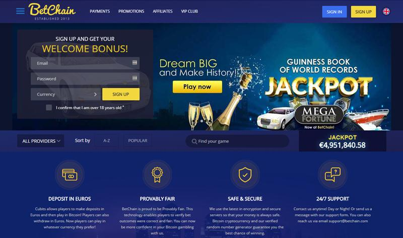 Betchain Bitcoin Casino Review Crypto Coin Judge