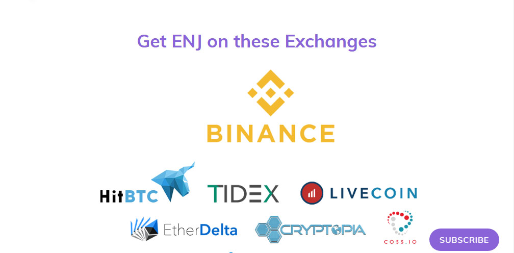 Enjincoin exchanges