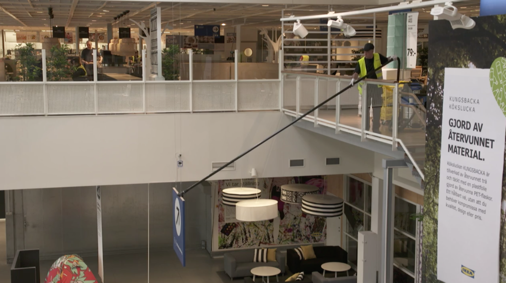 Using our high reach cleaning tools in Ikea store- image 3