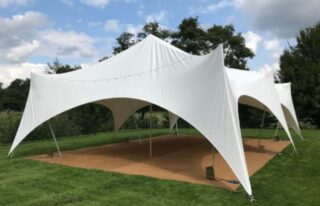 Medium Marquee for garden party hire Oxford Tent Company