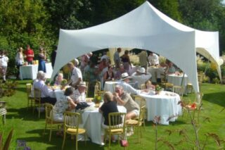 Small marquee for garden party hire Oxford Tent Company