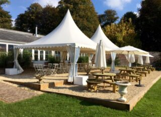 chinese hats garden party oxford tent company marquee Oxford Tent Company