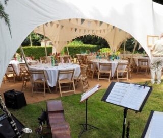 garden party small wedding hire oxford Oxford Tent Company