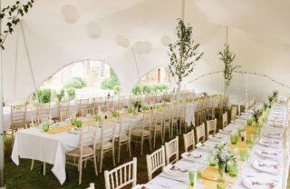 oxford tent company capri marquee table decorations Oxford Tent Company
