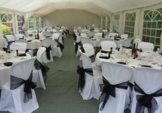 6m by 12m wedding marquee Oxford Tent Company