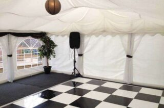 6m by 12m wedding marquee dance floor Oxford Tent Company