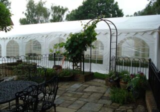 6m by 12m wedding marquee oudoor Oxford Tent Company