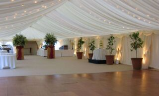 Marquee Uplighter hire oxford Oxford Tent Company