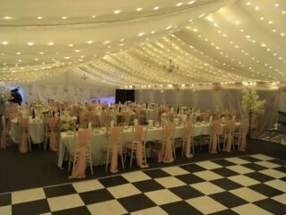 Marquee hire fairy lights Oxford Tent Company