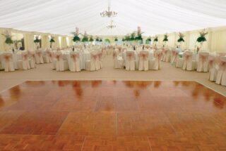 Parquet dance floor hire oxford Oxford Tent Company