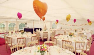 garden party clear span marquee Oxford Tent Company
