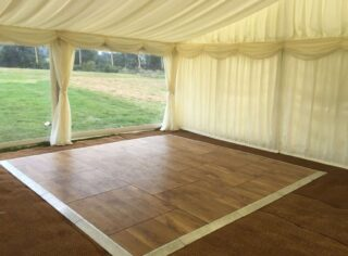 garden party clear span marquee Parque Dancefloor Oxford Tent Company