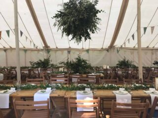 tables and chairs marquee wedding oxford Oxford Tent Company