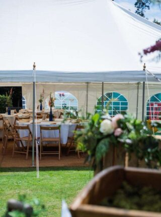 traditional wedding marquee for hire Oxford Tent Company