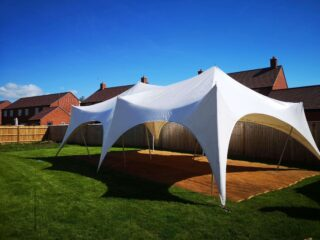 20ft by 30ft Capri marquee wedding Oxford Tent Company
