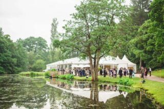 Lake wedding marquee Oxford Tent Company