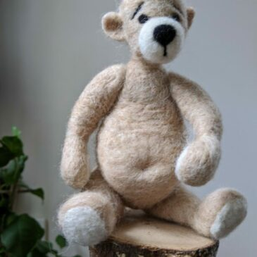 Postponed Improvers Needle Felting Workshop: Jointed Teddy