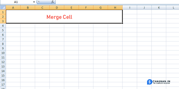 How To Merge Selected Cells in Ms Excel