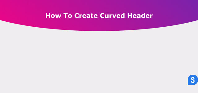 How to Make Curved Header using Html and CSS | CSS Tricks