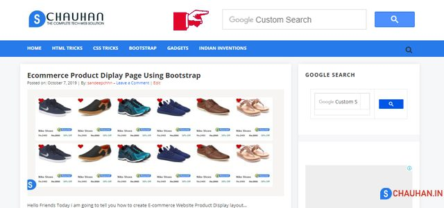 how to add google custom search box in your website