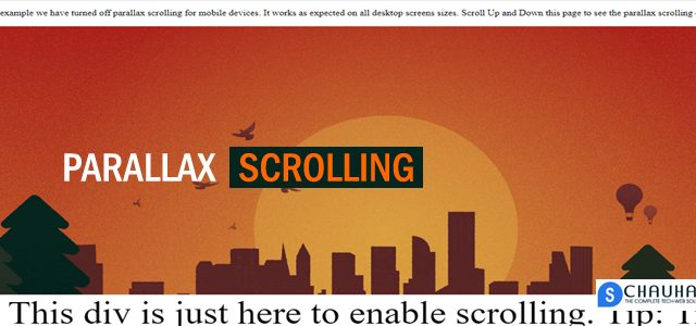 How To Create Parallax scrolling effect using CSS
