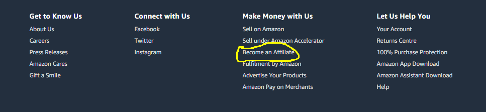 Join with amazon affiliate program