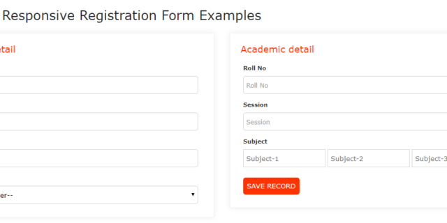 Bootstrap Responsive Registration Form Examples