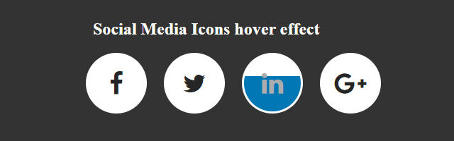 social media icons hover effect jquery