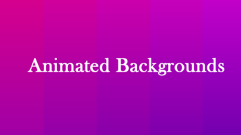 Background animation CSS & SVG