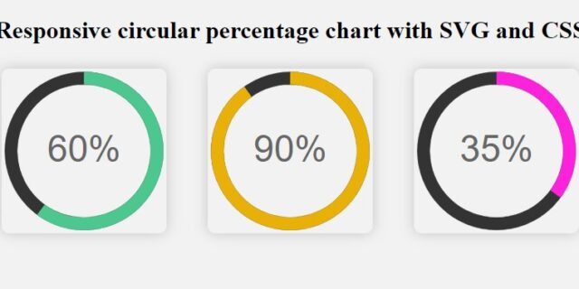 Creating a Pure CSS Animated SVG Circle Chart
