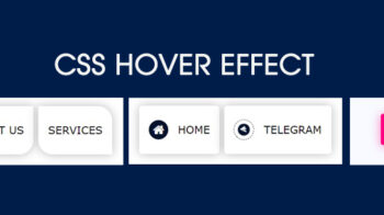 CSS hover Effects | Button hover effects css