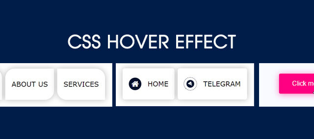 css hover effects