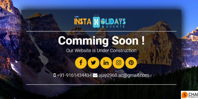 Website comming soon page templates free download