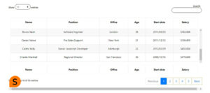 datatables fixed header bootstrap 4