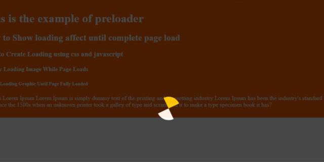 page loader jquery examples