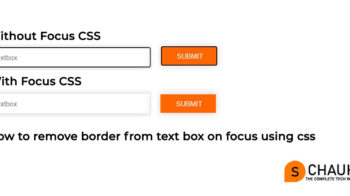 How to remove focus border (outline) around text/input boxes and button