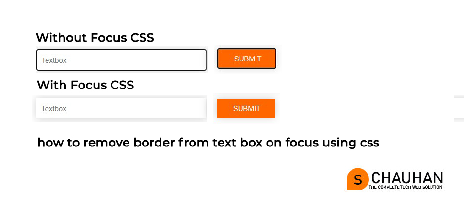 How to Remove and Style the Border Around Text Input Boxes