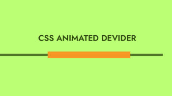 Animated horizontal divider css
