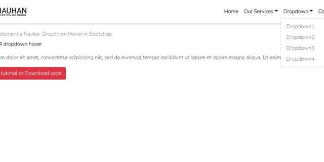 bootstrap dropdown menu on hover example