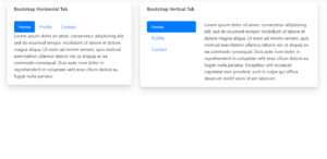 Vertical tabs component for bootstrap