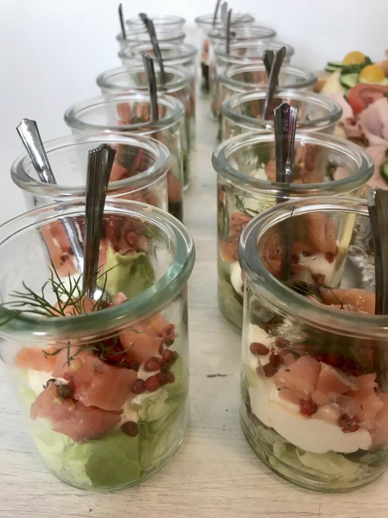 Catering DAS ZOLLERN-Lachssalat
