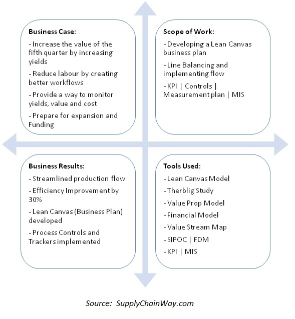 Project summary for lean canvas model